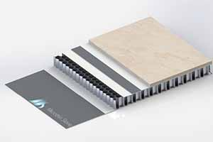 Microthin stone honeycomb panel structure